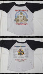 Iron Maiden Shirt Baseball World Slavery Tour 1985