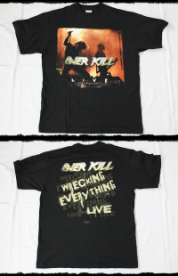 Overkill Shirt Wrecking Everything Live Tour 2002