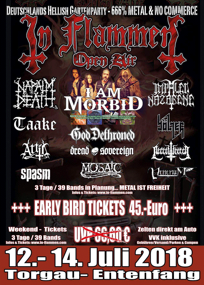 2018-07-12 In Flammen Open Air 2018 - Tickets - Line Up